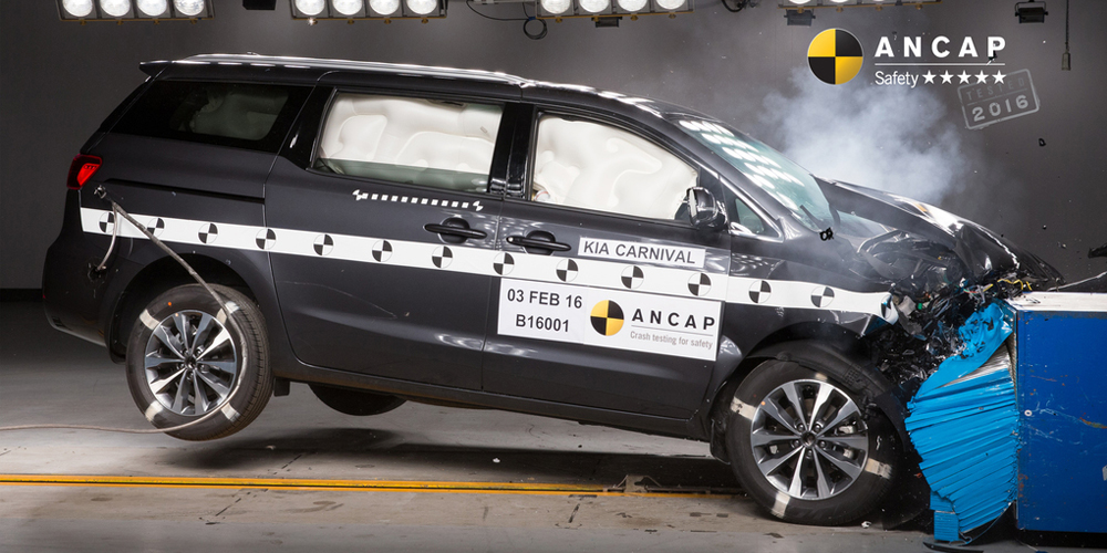Kia Carnival first with 2016 ANCAP rating