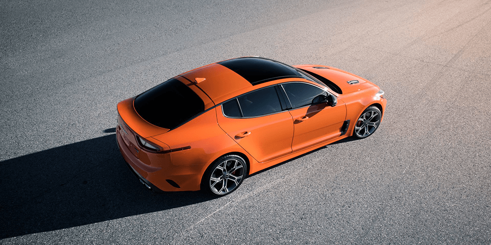 Neon Orange Kia Stinger GT Sport™ Lights Up The Road