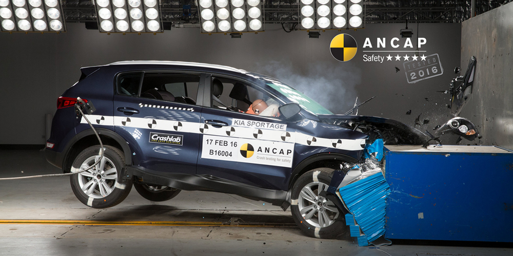 Kia Sportage first SUV to achieve 2016 ANCAP safety rating